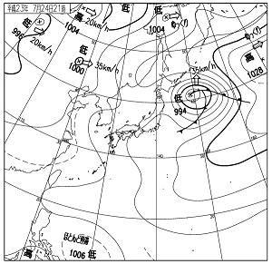 天気図 11072421
