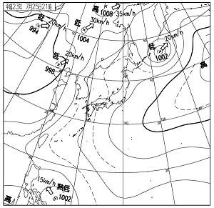 天気図 11072521