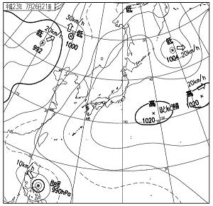 天気図 11072621