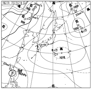 天気図 11072721