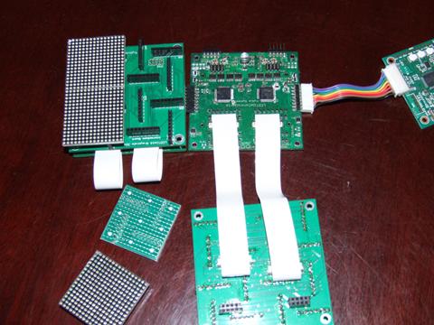 LEDタイル GS32x32試作 構造写真