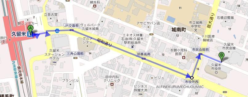 駅から会場への誘導図(大)