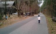 ぷに子と朝の散歩 - 安曇野