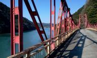 旧国道418号旅足橋から丸山ダムを望む