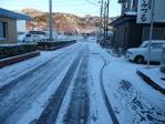 自宅付近の道路の積雪・・・