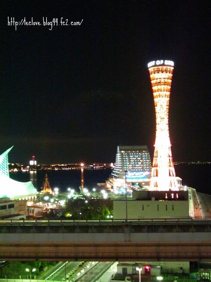 ポートタワーホテルからの夜景