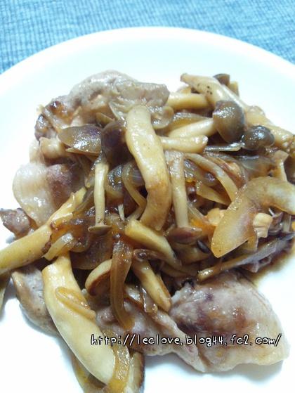 豚肉のソテー~玉ねぎシメジ甘辛生姜ソース~