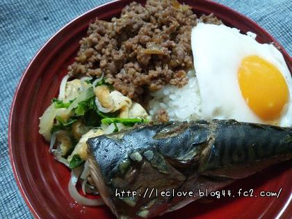 鯖の生姜煮ワンプレート