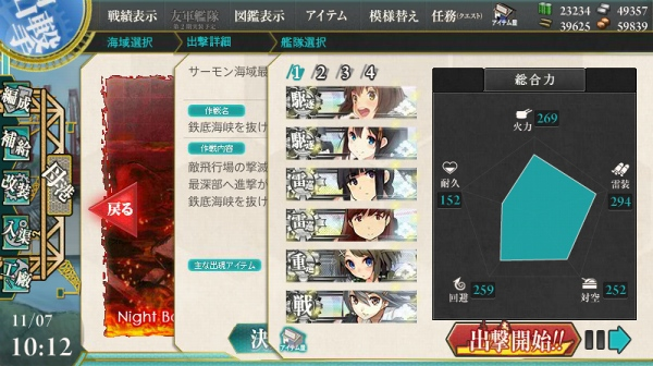 E-5 7日目 参戦艦隊