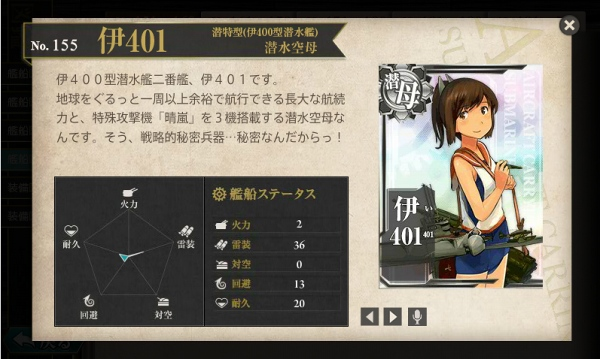 潜水空母 伊401 図鑑