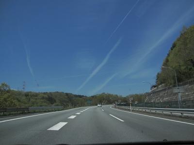 中央道の青い空。