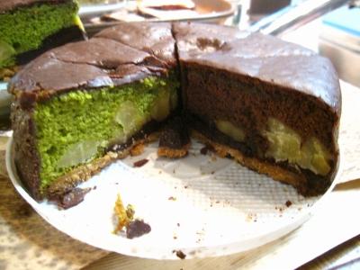 栗のケーキ!抹茶&チョコ!