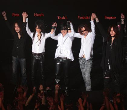X Japan newlineup 2010
