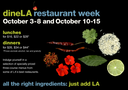 dineLArestaurant week