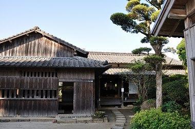 竹添邸玄関