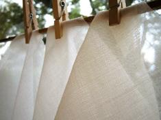 cartain cottonmuslinwhite