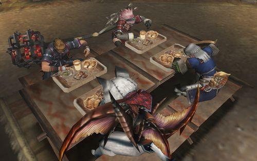 猟団員の晩飯タイム