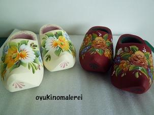 木靴ミニ白・えんじ2011.8.2