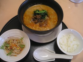 特別セット(メインは四川坦々麺)