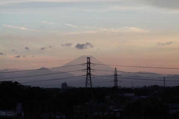 某所からの夕日