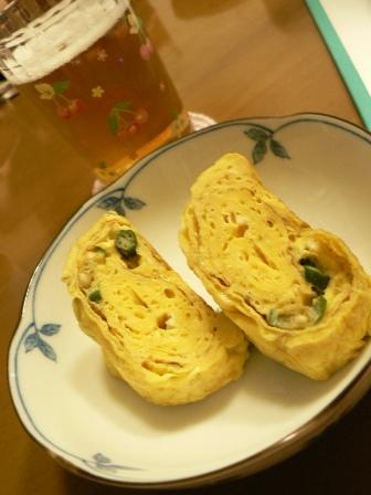 2010年9月9日アテでニラ入り卵焼き