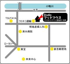 マッドマウスお店の地図