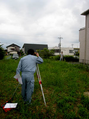 M-敷地レベル測量01