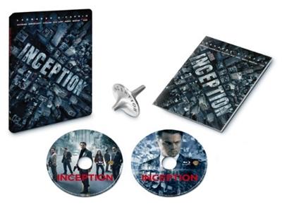 【Amazon限定】 インセプション (ジャパンオリジナル スチールブック仕様) トーテム(コマ)と「夢共有装置」取扱説明書付き[ 完全数量限定 ] [Blu-ray]