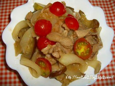 2012_0822 豚肉と夏野菜の甘酢炒め2