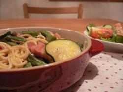 夏野菜の和風パスタ