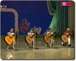 North Korean guitar quartet