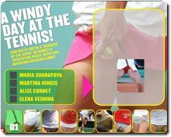the tennis upskirt