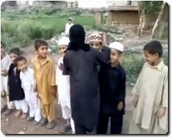 Children Playing Suicide Bomber Game..