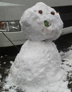 雪だるまができました。