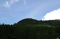 夏の空と烏宿山