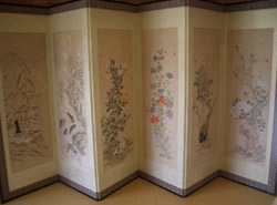 江戸期の屏風絵