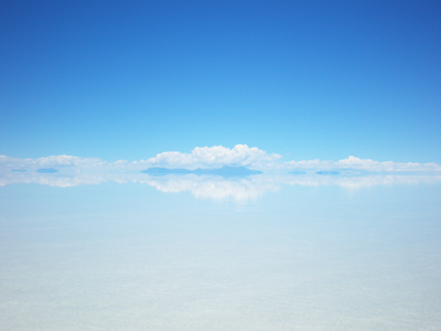 ウユニ塩湖雨季ボリビア