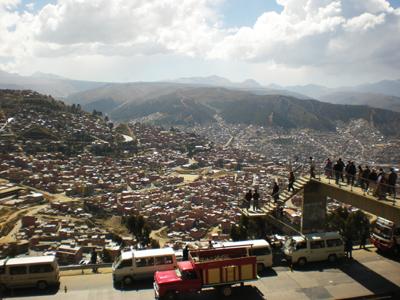 エルアルトの丘からボリビア・ラパス