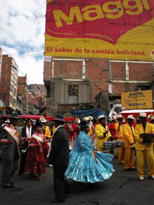 お祭りの日ボリビア・ラパス