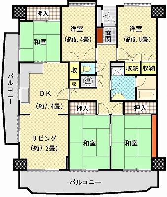 桜町マンション215間取り図