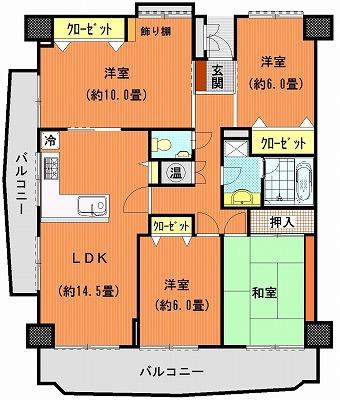 桜町マンション215間取り図改装その1