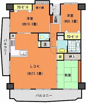 桜町マンション215間取り図改装その2