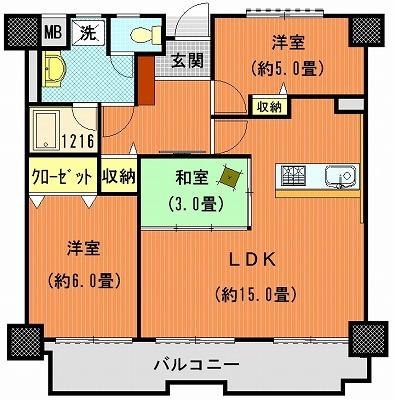 ライオンズマンション高松上福岡802間取り改2