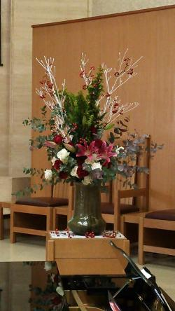 教会花活け2013.12.07