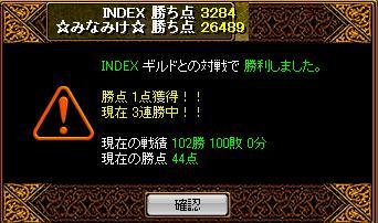 INDEX戦結果