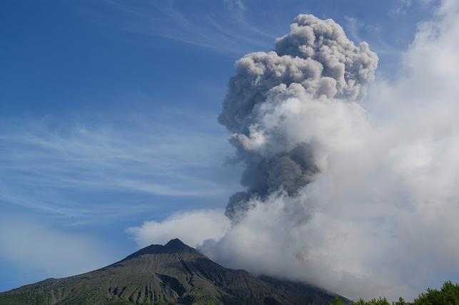 南岳の噴火