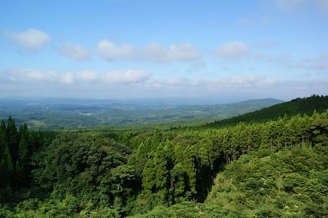 霧島南側の景色