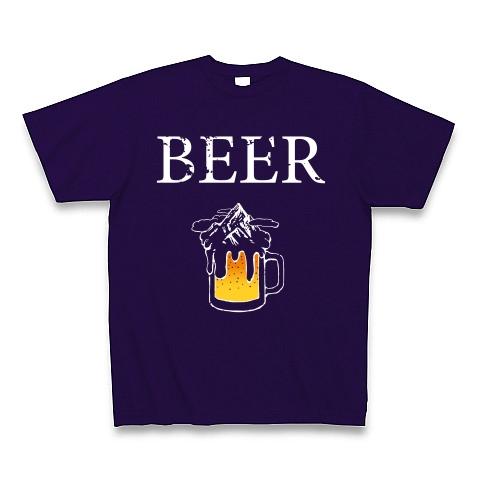 ビールと雪山