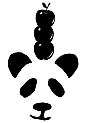 panda_with_apple
