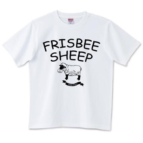 フリスビーと羊(サフォーク)